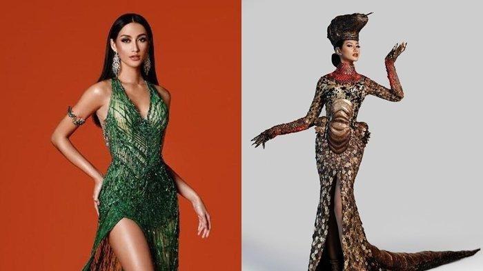 Unik, Lihat Cantiknya Putri Indonesia Ayu Maulida Pakai Kostum Ala Komodo di Miss Universe 2021