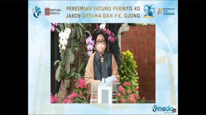 Resmikan Patung Jakob Oetama dan P K Ojong, Sri Mariani Sebut Bisa Obati Rasa Penasaran Karyawan