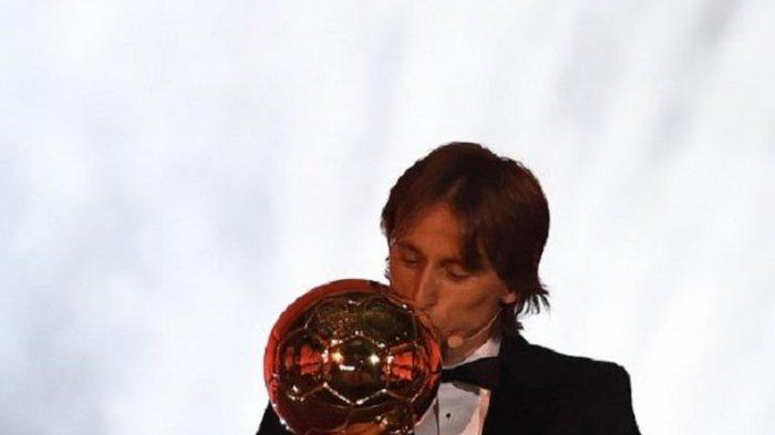Raih Ballon d'Or 2018, Luka Modric Pemain Terbaik Dunia, Patahkan Sihir 10 Tahun Messi-Ronaldo