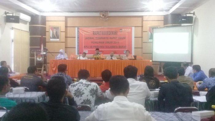 KPU Sulbar Bahas Jadwal Kampanye Rapat Umum Bersama Peserta Pemilu