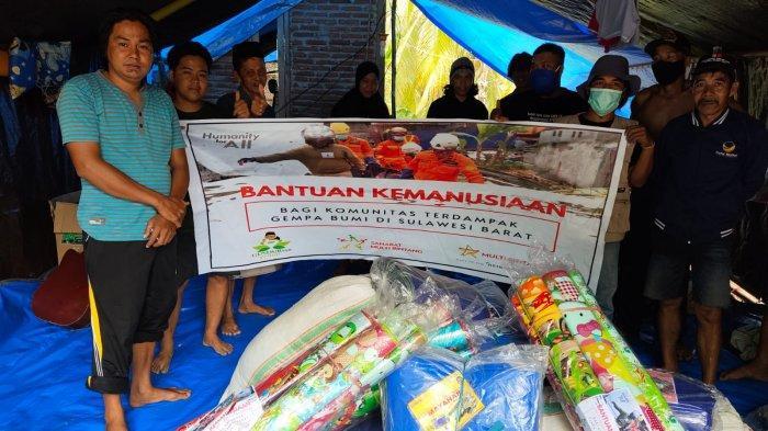 Relawan Gusdurian Peduli Salurkan Bantuan ke Korban Gempa Majene dan Mamuju