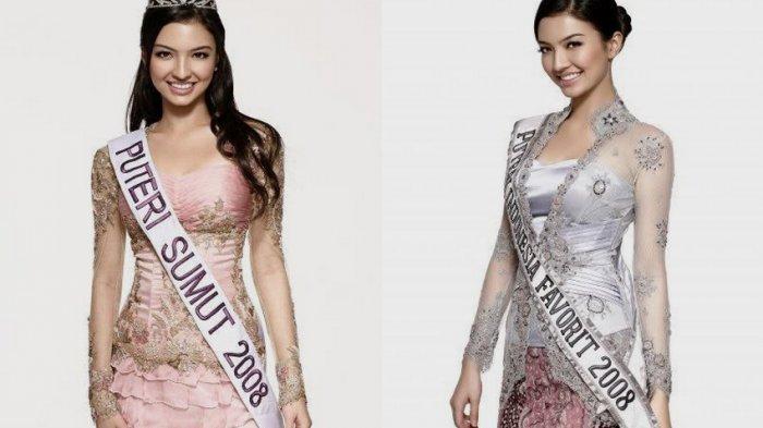 Raline Shah waktu menjadi finalis Putri Indonesia tahun 2008 lalu mewakili Sumatera Indonesia