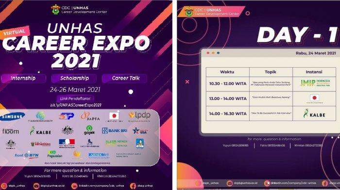 Cari Lowongan Kerja hingga Beasiswa, Kunjungi Unhas Career Expo 2021 via Virtual, Ini 18 Pesertanya? - ramaikan-event-unhas-career-expo-2021-yang-digelar-dapk-unhas.jpg