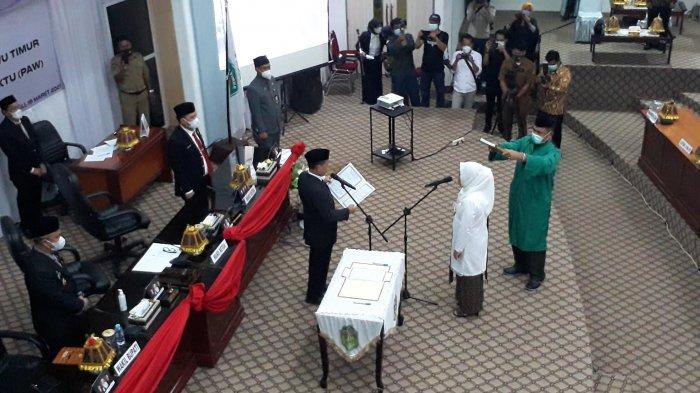 PAW Almarhum Amran Syam, Ramna Minggus Resmi Jadi Anggota DPRD Luwu Timur