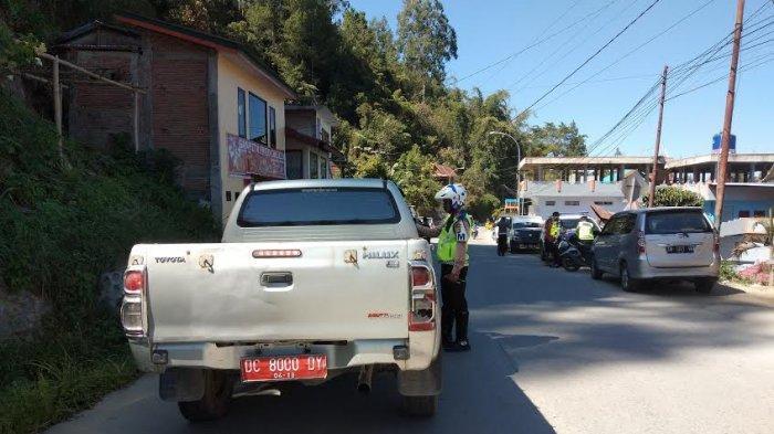 Mobil Dinas Kabag Humas Mamasa Juga Ditilang Polantas, Perhatikan Platnya