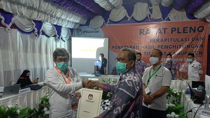 KPU Barru Umumkan Suardi Saleh-Aska Mappe Pemenang Pilkada
