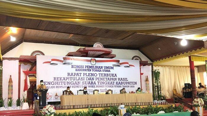 KPU Toraja Utara Rakor Rekapitulasi Hasil Penghitungan Suara Pilkada 2020