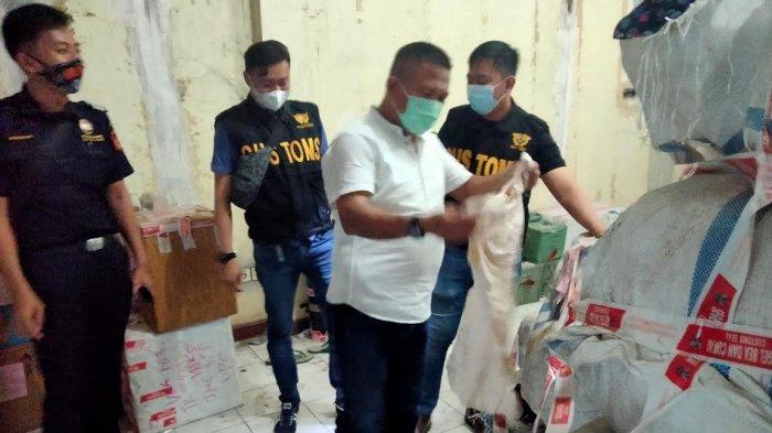 Bea Cukai Sulbagsel Sita Ratusan Karung Pakaian Cakar Ilegal dari Malaysia