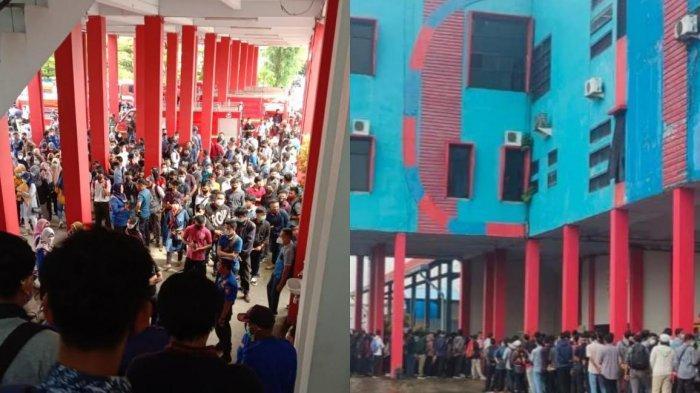 BREAKING NEWS: Kerumunan Pendaftar Tenaga Kontrak Padati Kantor Damkar Kota Makassar