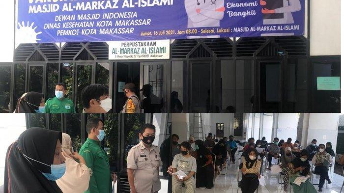 Masjid Al Markaz Makassar Vaksin 150 Warga