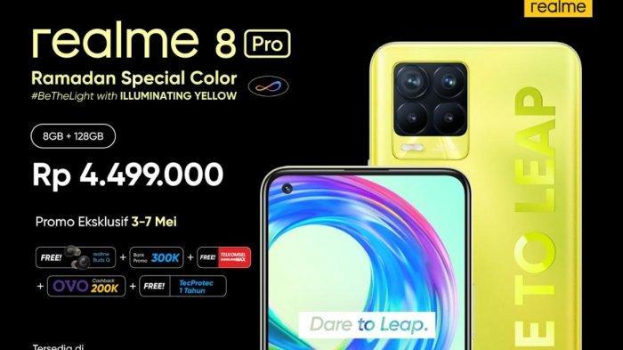 Realme Luncurkan 8 Pro Illuminating Yellow dan Watch S Master Edition, Intip Keunggulan