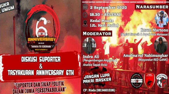 Red Gank ByPass Rayakan Anniversary ke-6, Ada Dialog Suporter PSM Makassar
