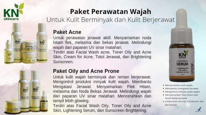 Paket Perawatan Wajah Kulit Berminyak dan Jerawat dari KN Skincare Mulai Rp250 Ribu