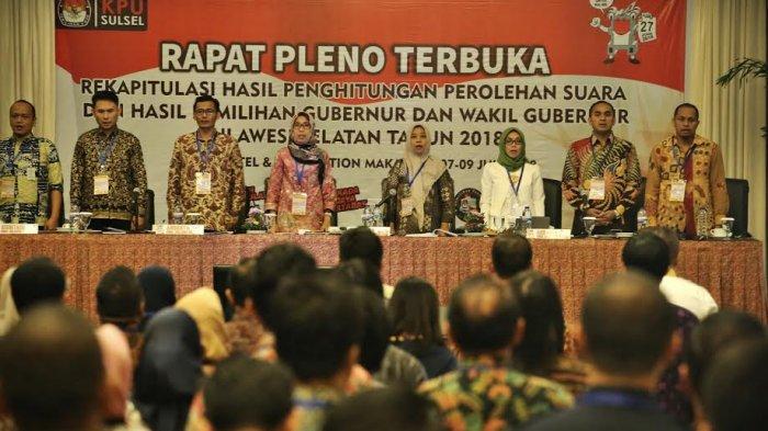 Pleno Rekapitulasi Penghitungan Suara Pilgub Sulsel Diwarnai Aksi Protes