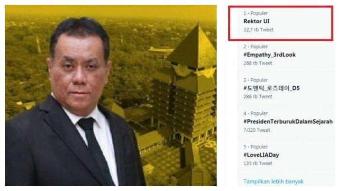Siapa Prof Ari Kuncoro? Rektor UI Langgar Aturan tapi Aturannya yang Diubah, Trending di Twitter
