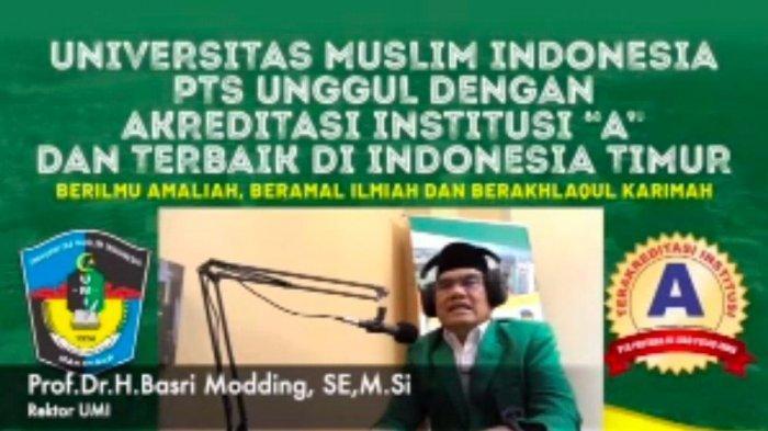Prof Basri Modding Bahas Etos Kerja di Pesantren Virtual Ramadan UMI