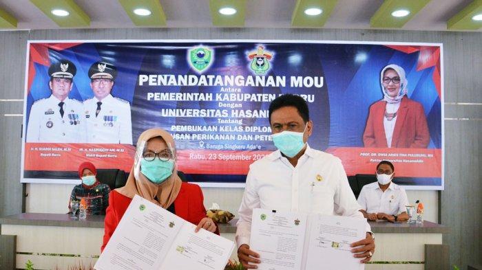 Prof Dwia-Suardi Saleh Sepakat Buka Kampus Unhas di Barru