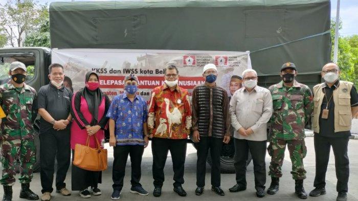 Rektor UNM Lepas Bantuan Kemanusiaan KKSS BPD Kota Bekasi Menuju Sulawesi Barat