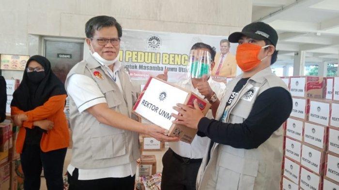 Bantu Korban Bencana Banjir Bandang Luwu Utara, Rektor UNM Bebaskan UKT Mahasiswa Asal Masamba