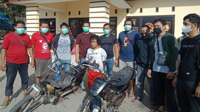 Curi Motor di Takalar, Warga Gowa Ini Ditangkap di Pasar Pannampu Makassar