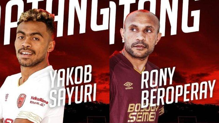 Resmi Bergabung dengan PSM Makassar, Inilah Profil Rony Esar Baroperay dan Yakob Sayuri
