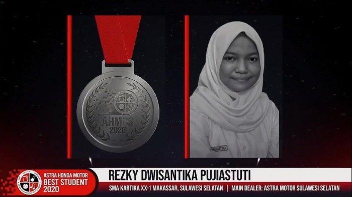 Rezky, Siswa SMA Kartika Makassar Raih Medali Perak di Ajang AHM Best Student 2020