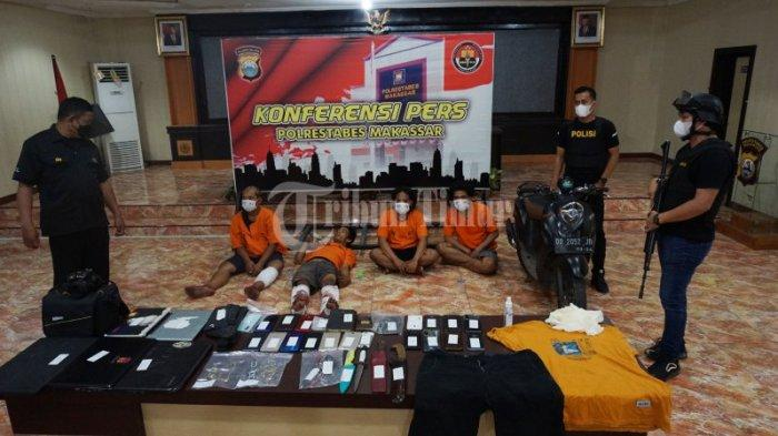 Ini Barang Bukti Diamankan dari Komplotan Perampok dan Pemerkosa Anak Kos di Makassar