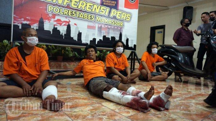 FOTO: Polisi Merilis Kawanan Perampok dan Pemerkosa Spesialis Indekos Mahasiswi di Makassar - rilis-4-perampok-di-polrestabes-makassar-3.jpg