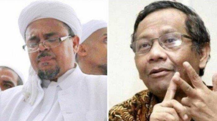 Batal Hadiri Reuni 212 Rizieq Shihab Ngaku Dicekal Pemerintah Arab Saudi Pesanan Jokowi Mahfud MD?