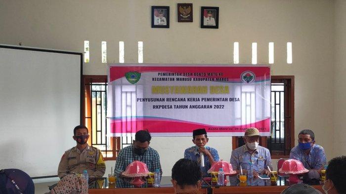 Jelang Akhir Tahun, Pemerintah Desa Bonto Mate'ne Mulai Persiapkan RKP Desa Tahun 2022