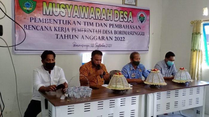 Sebentar Lagi 2022, Desa Borimasunggu Gelar Musyawarah Pembentukan Tim dan Pembahasan RKP Desa