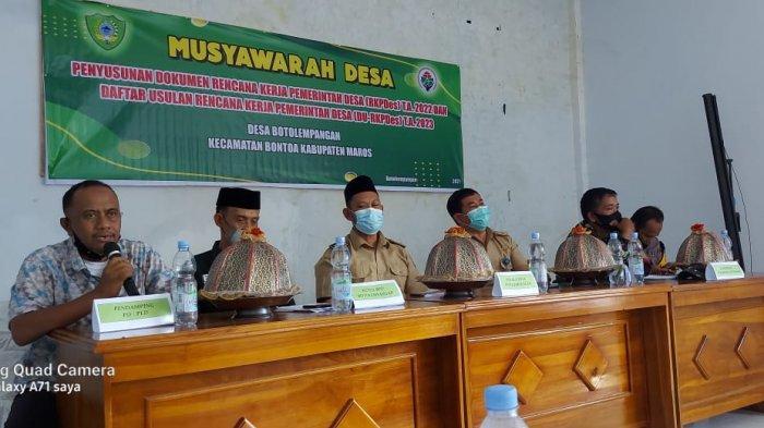 Musyawarah desa membahas tentang RKP Desa Tahun 2022 dan DU-RKP Tahun 2023