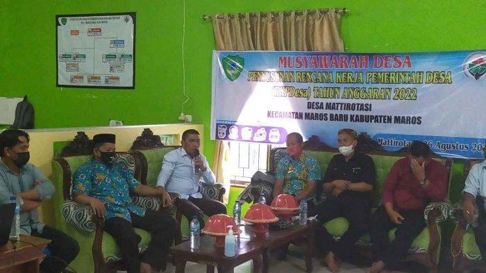 Musyawarah Penyusunan RKP Desa Tahun 2022 di Desa Mattirotasi dihadiri Anggota DPRD Kabupaten Maros