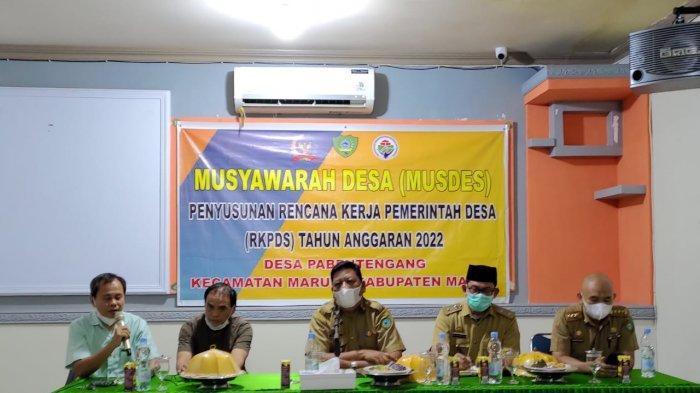Pemdes Pa'bentengang Gelar Musyawarah Untuk Menyusun Rencana Kerja Pemerintah Desa Tahun 2022
