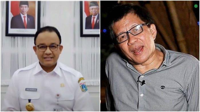 Kolase Gubernur DKI Jakarta Anies Baswedan dan Pengamat Politik Rocky Gerung. Rocky Gerung menanggapi polemik yang sedang terjadi di Ibu Kota yakni antara Gubernur DKI Jakarta, Anies Baswedan dengan para kabinet Jokowi.