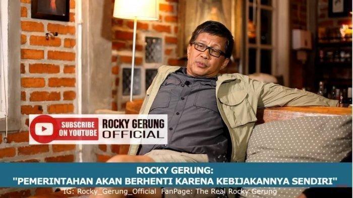 Rocky Gerung Bintang ILC TV One Singgung New Normal ala Pemerintah Jokowi 'Itu Semacam Ledekan'