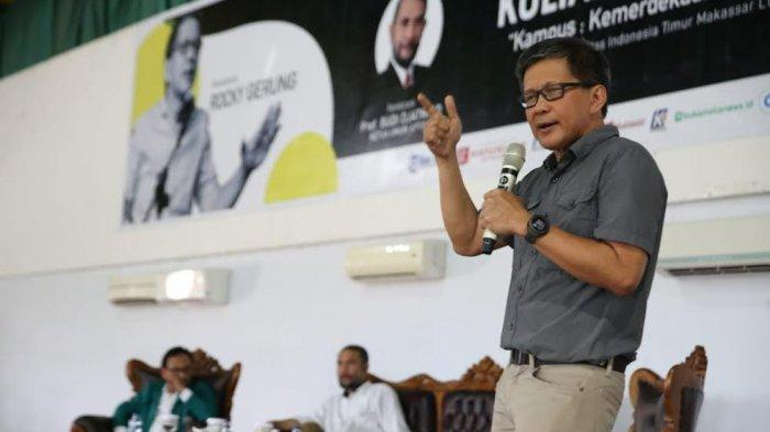Beraninya Bintang ILC TV One Rocky Gerung Prediksi Presiden Jokowi Tak Bertahan Hingga 2024, Kenapa?