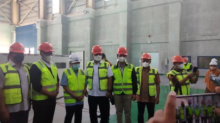 Rombongan komisi VII DPR RI berkunjung ke lokasi Pembangkit Listrik Tenaga Air (PLTA) Poso, Sulawesi Tengah, Jumat (1102021) siang.