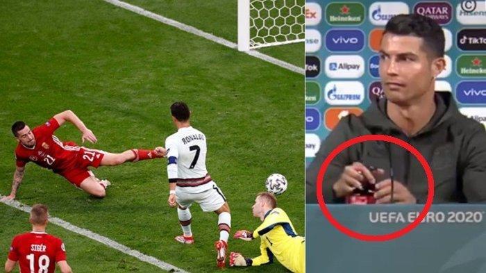 Ronaldo Trending Twitter usai Geser Botol Coca-cola saat Prescon dan Cetak 2 Gol ke Gawang Hungaria