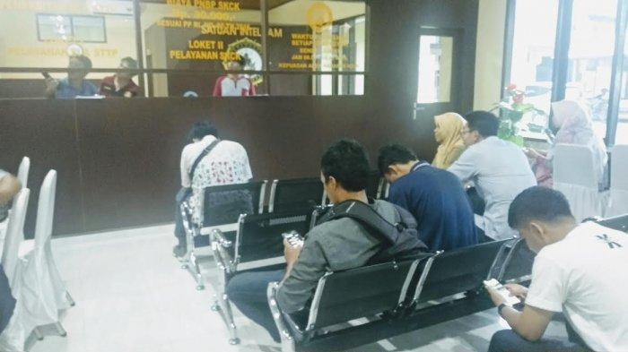 Pelamar CPNS Padati Ruang Pelayanan SKCK Polres Bantaeng