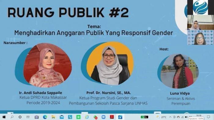 Ruang Publik LSKP Bahas Anggaran Publik Responsif Gender,Andi Suhada Sappaile: Bukan Hanya Perempuan