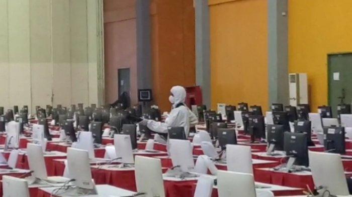 Cegah Penularan Covid-19, Ruang Tes CPNS di CCC Makassar Tiga Kali Sehari Disemprot Disinfektan