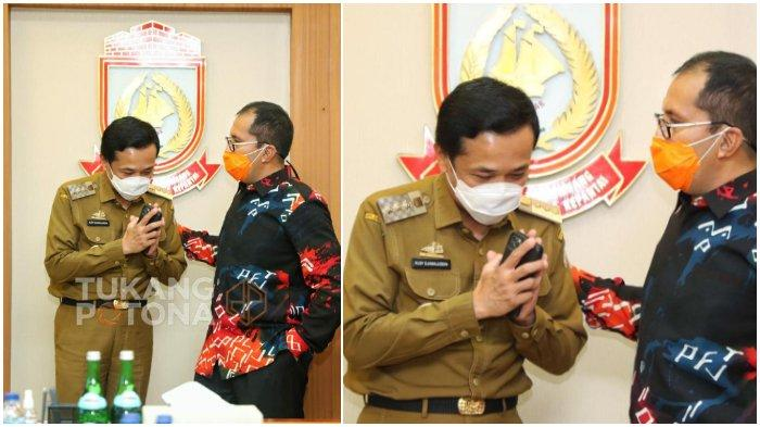 Viral di WhatsApp, Foto Pj Wali Kota Makassar Prof Rudy Djamaluddin Membungkuk Depan Danny Pomanto