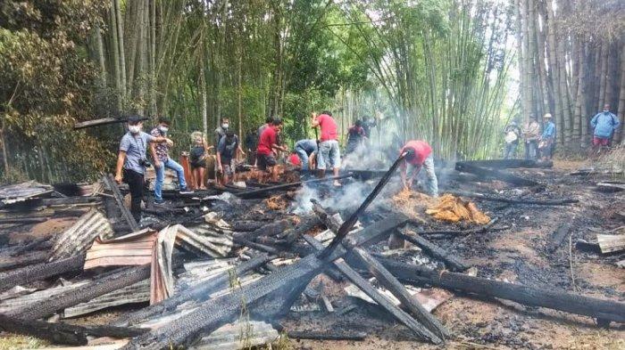 Rumah Ibu Janda di Sangalla' Utara Tana Toraja Ludes Terbakar