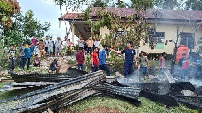 Rumah Penyimpanan Gabah Milik Warga Saukang Sinjai Terbakar, Kerugian Capai Rp30 Juta