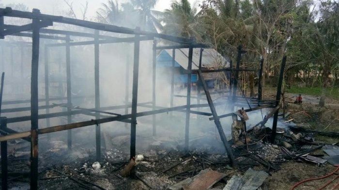 Api Hanguskan 2 Rumah Panggung, 1 Motor, dan Uang Tunai Rp 20 Juta di Pammana Wajo