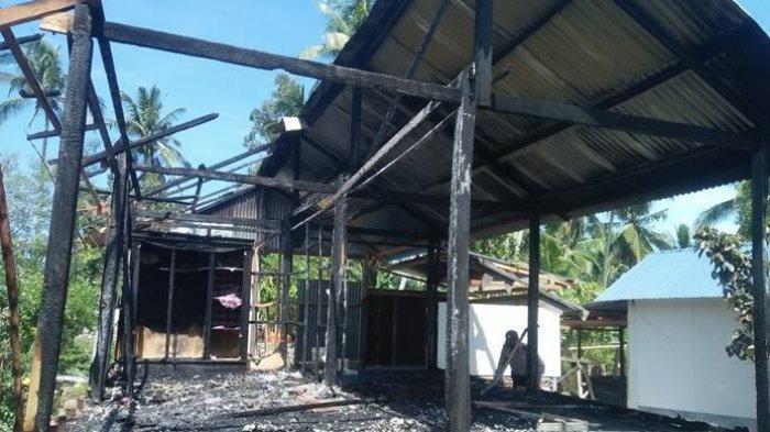 Ditinggal Pemilik, 1 Rumah di Malunda Ludes Terbakar