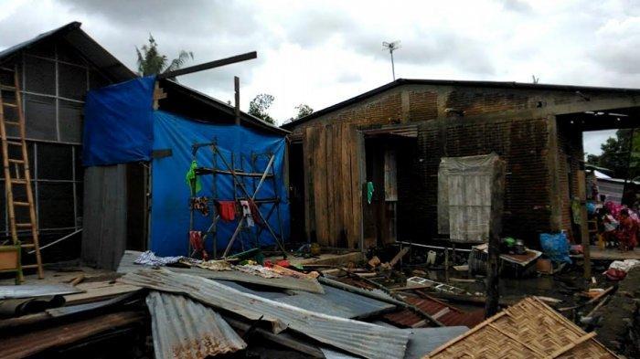 Angin Puting Beliung, Lima Rumah Warga di Mangarambobang Takalar Rusak