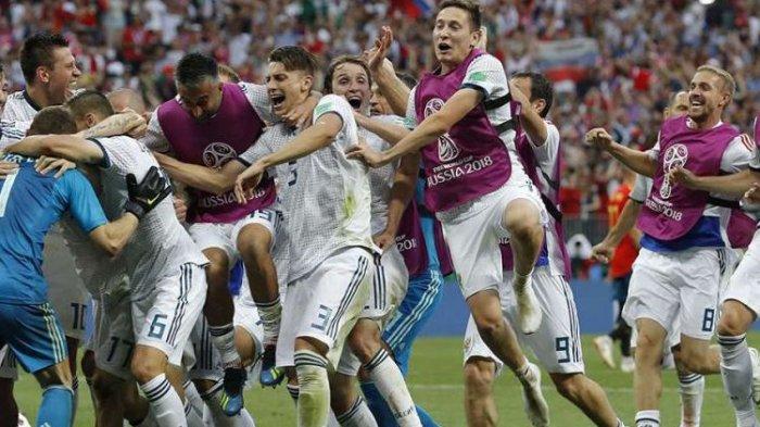 Nonton di HP Kamu Live Streaming Full HD Rusia vs Kroasia: Babak 8 Besar Piala Dunia Live Trans TV