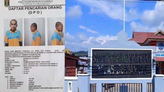 Kabur Sebulan Lalu, Tahanan Kasus Pembunuhan Rutan Kelas IIB Mamuju Belum Ditemukan